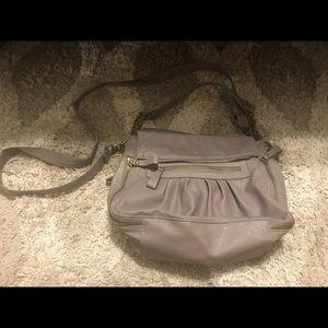 Olivia + Joy gray crossbody and shoulder bag